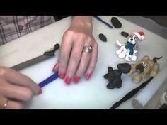 ▶ Polymer Clay Black Puppy Dog Tutorial - YouTube