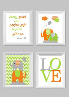 Elephant Nursery Art Gray Turquoise Teal Gender Neutral Baby Decor Bible Verse Love Every Good and Perfect Gift Quote Elephant Canvas Decor - Baby Nursery Today Elephant Nursery Art, Elephant Canvas, Elephant Theme, Baby Elephant, Elephant Quotes, Baby Girl Room Decor, Girl Nursery, Baby Room, Nursery Themes