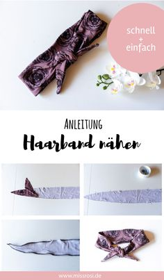 Haarband nähen, einfache Anleitung für Anfänger - Miss Rosi - งานฝีมือในการขายบล็อก Diy Jewelry For Beginners, Diy Jewelry Tutorials, Diy Jewelry Making, Knitting For Beginners, Sewing Tutorials, Beginners Sewing, Diy Couture Cadeau, Diy Jewelry Holder, Diy Jewelry Inspiration