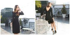 style#fashion#personality# backless dress#yokko#black