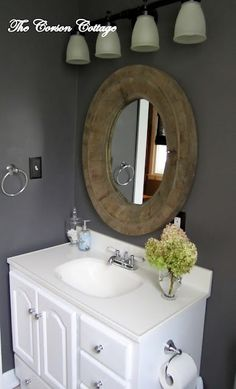 Behr Granite Grey Nice for a small or half bathroom. paint color