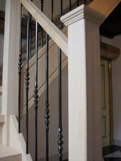 trapleuning balustrade hout - Google zoeken Garage Apartments, House Stairs, Own Home, Country Living, Decoration, Sweet Home, New Homes, House Design, Corridor