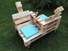 wood pallet double chair idea