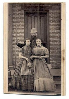 """""""Undated image, believed to be British servants. ca. 1860. via Threading Through Time. """""""