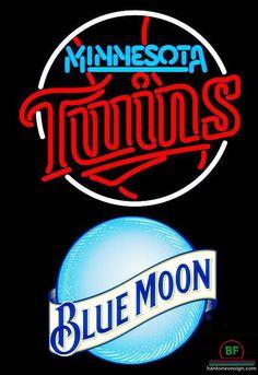 Blue Moon Minnesota Twins Neon Sign MLB Teams Neon Light