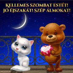 Good Night, Good Morning, Share Pictures, Animated Gifs, Sendai, Teddy Bear, Humor, Halloween, Toys