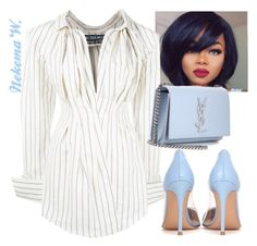 """""""Date Night👫"""" by sexyshonda ❤ liked on Polyvore featuring Jacquemus, Gianvito Rossi and Yves Saint Laurent"""