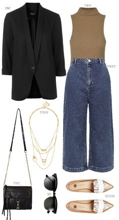 eacd0ee5e42 CURRENTLY CRAVING  CULOTTES Denim Culottes Outfits