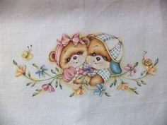 lenzuolino dipinto a mano su stoffa