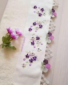 Image may contain: flower Border Embroidery Designs, Embroidery Flowers Pattern, Cross Stitch Embroidery, Flower Patterns, Hand Embroidery, Cross Stitch Patterns, Most Beautiful Wallpaper, Geek Games, Needle Lace