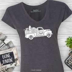 I Brake for Junk and Flea Markets Ladies Graphic Tee