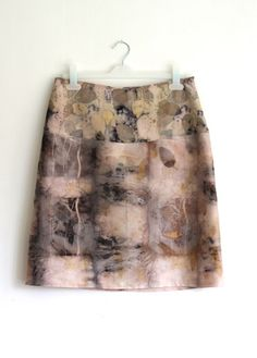 eco printed skirt