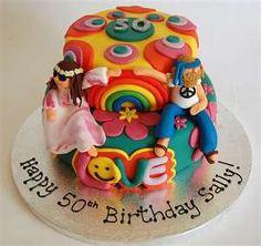 Rainbow Hippie Cake this is me Fancy Cakes, Cute Cakes, Beautiful Cakes, Amazing Cakes, Fondant Cakes, Cupcake Cakes, Hippie Cake, Hippie Party, Number Cakes