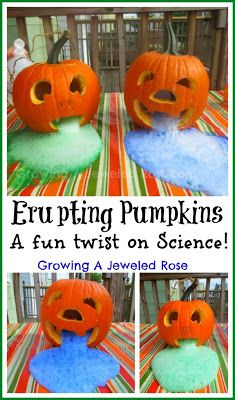 Erupting Pumpkins Experiment for Kids or a fun decoration for your party
