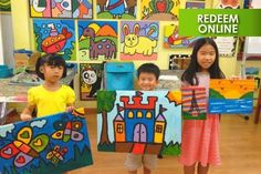 $12 for 90 min Guided Acrylic Painting Session for One Child at ...