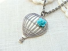 hot air balloon necklace - i've become obsessed lately...