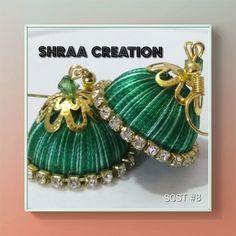 Silk Thread Earrings ,two colors