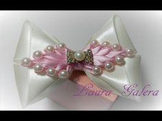 Baby bow Moño bebe con perlas Handmade Laço bebe - YouTube