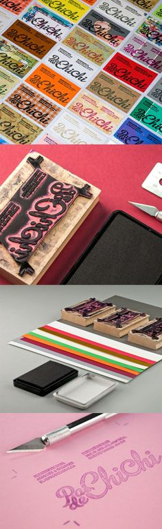 Custom Stamp And Typography On Recycled Paper - DIY Handmade Business Card Design