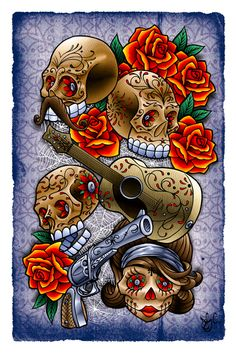 Muertos V2, Joby Cummings, illustrator art