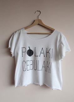 Kup mój przedmiot na #vintedpl http://www.vinted.pl/damska-odziez/koszulki-z-krotkim-rekawem-t-shirty/12345816-luzny-t-shirt-polaki-cebulaki-napis-text