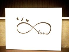 Infinity Love Modern Art White & Black Acrylic Paint by NJoySArt, $250.00
