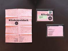 Zweistufiges Vorstellungsmailing als Freelancerin: Eine Klassik- Edition und eine Weihnachts-Edition. Das Mailing wurde im Siebdruck auf echte Putztücher gedruckt. Idee & Umsetzung Shlomit Faivel