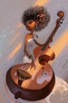 Esperanza Spalding (Natural Hair Art) Illustrations by Chaichan Artwichai African American Art, African Art, Natural Hair Art, Natural Hair Styles, Natural Beauty, Art Afro Au Naturel, Esperanza Spalding, Tin Art, Black Artwork