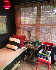 Designer Robert Farrell's escape is an alfresco room he built at the back of his shade garden in Brooklyn. Outdoor Garden Rooms, Outdoor Spaces, Suitcase Decor, Broken Concrete, Carroll Gardens, Ground Covering, Shelter Island, Outdoor Sofa, Outdoor Decor