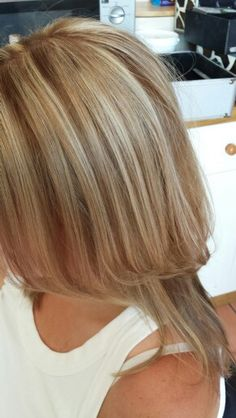 Natural blonde highlights and light brown lowlights