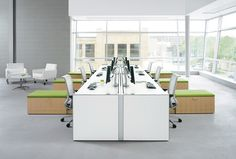 Open Office Interior Design And Office Design Small Office Furniture, Small Space Office, Office Space Design, Modern Office Design, Office Interior Design, Office Interiors, Furniture Ideas, Office Designs, Small Spaces