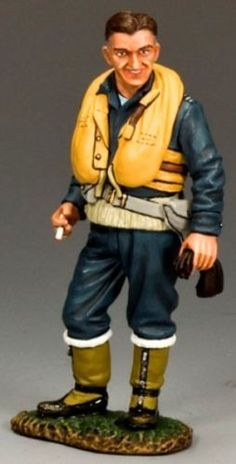 World War II British Royal Air Force RAF053 Wing Commander Johnnie Johnson - Made by King and Country Military Miniatures and Models. Factory made, hand assembled, painted and boxed in a padded decorative box. Excellent gift for the enthusiast.