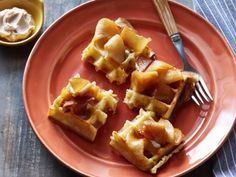 Get Bobby Flay& Belgian Waffles with Homemade Cinnamon Sugar Butter and Sauteed Cider Apples Recipe from Cooking Channel Bobby Flay Waffle Recipe, Waffle Recipes, Brunch Recipes, Dessert Recipes, Brunch Ideas, Yummy Recipes, Brunch Foods, Wing Recipes, Sweet Desserts