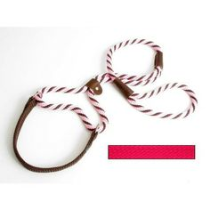 """Mendota Big Dog Walker – Petiquette Dogs Martingale style leash and collar in one, designed for exercise, training, show and field. Easily adjustable for neck circumference. The soft and pliable neck band is accented with nickle-plated brass rings.  All materials used are colorfast and non-corrosive. """"Like"""" or """"Pin"""" this and use discount code """"Pin5"""" for 5% off."""