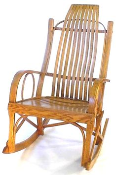 Amish Curved Arm Bent Rocker