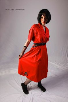 Radiant Red Rockabilly/Punk Vintage 1980s by SecondhandPassion, $50.00