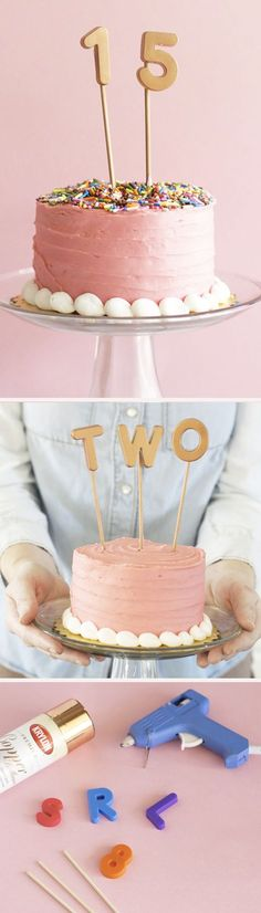 DIY cake topper for