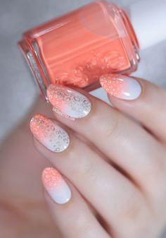 Animal Print Gradient Nails