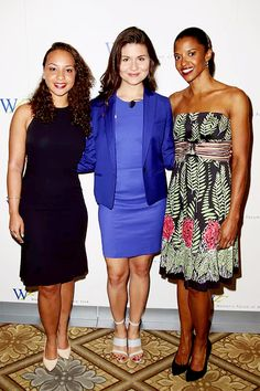 Jasmine Cephas-Jones, Phillipa Soo and Renée Elise Goldsberry, from Broadway's 'Hamilton', attend the 6th Annual Elly Awards Luncheon at The Plaza Hotel on June 20, 2016 in New York City.