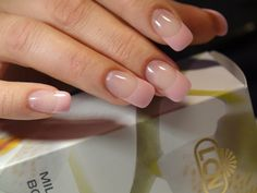 LCN pink pastel French,whith LCN colours gels ...  by Rossana Chousal-Fune
