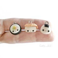 #kawaii #charms #polymer #clay #sushi #onigiri