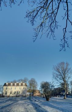 A beautiful, crisp and sunny winter's day at Schloss Leizen today.