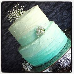 Ombré vintage buttercream cake.