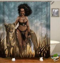 Warrior Queen Shower Curtain