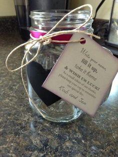 .mason jar drinking mug favors. Make and take valentines/February.