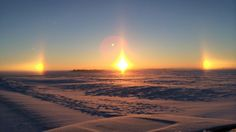 Snowy field on December 19, 2013, 1 mile south of Standard, Alberta.  Temperature was about -27C. (Photo courtesy: Trent)