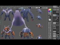 http://youtu.be/tysUfLWrGkI Low Poly Texture Painting using ZBrush
