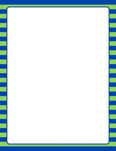 Printable blue and green striped border. Use the border in Microsoft Word or other programs for creating flyers, invitations, and other printables. Free GIF, JPG, PDF, and PNG downloads at http://pageborders.org/download/blue-and-green-striped-border/