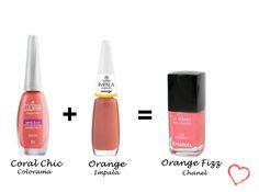 Misturinha para Chanel Coral Chic Colorama + Orange Impala = Orange Fizz Chanel