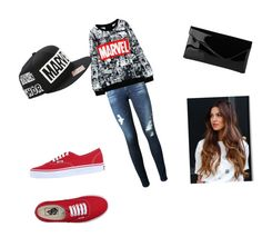 """Marvel strong"" by melw44 ❤ liked on Polyvore featuring AG Adriano Goldschmied, Vans and L.K.Bennett"